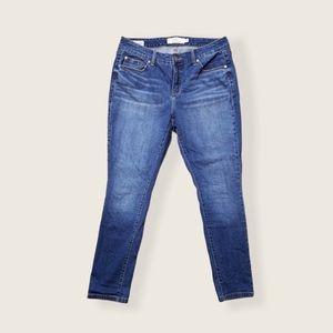Torrid Curvy Skinny Medium Wash Blue Jeans 12